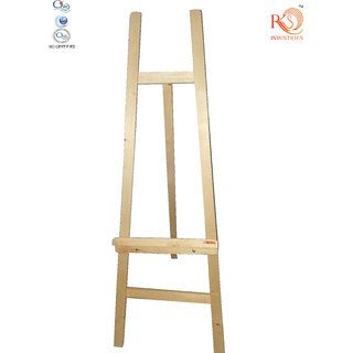 4 Feet Long woodenEasel for display ,  painting  , writing in white / green  board