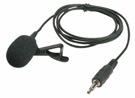 American Sia 3.5MM Clip On Mini Lapel Lavalier Microphone for Android/iOS Device (Black)