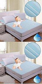 HomeStore-Yep Synthetic Waterproof Mattress Protector Hypoallergenic Double Bed Cover Set of 2