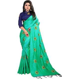 2a1d644115e1e Buy Greenvilla Designs Green Paper Silk Saree Online - Get 67% Off