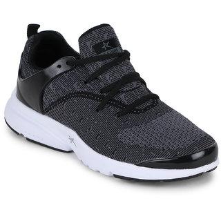 Refoam Men's Black & Grey Mesh Running Sport Shoes