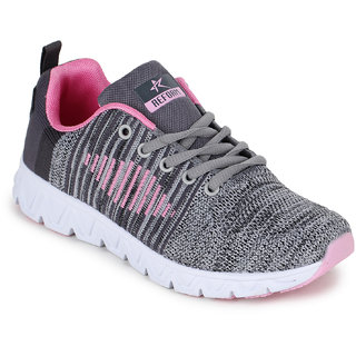5e046100bb98 Buy Refoam Women s Grey Pink Mesh Running Sport Shoes Online - Get ...
