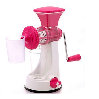Fruit Vegetable Manual Juicer Mixer Grinder With Steel Handle Polypropylene Hand