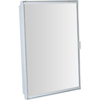 Zoom Pyramid Corner Bathroom Storage Cabinet With Mirror White