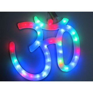 6th Dimensions OM Wall Hanging with LED Light for Home with 2 Meter Long Wire