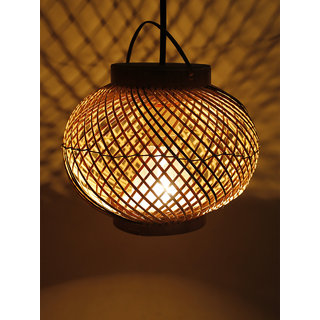 6th Dimensions Globe Bamboo Made Hanging Lights (Pendant Lights) Lamp Shade(bamboo)