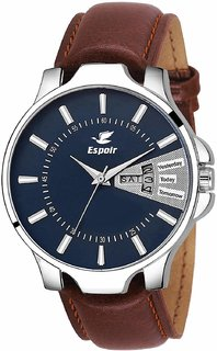 Espoir Analog Blue Dial Day And Date Men's and Boy's Watch - InfiDex0507