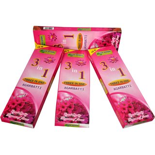 VEDA HERBAL - AGARBATTI (3IN1 ) COMBI OFFER OF 6PACKETS