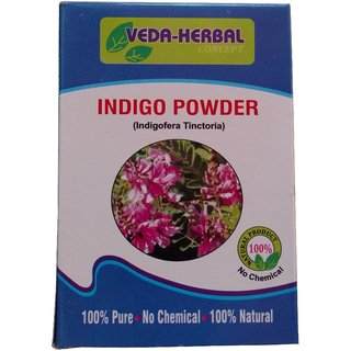 Veda Herbal Concept - Black Henna Powder (100 natural Indigo Powder) no chemical, use on Hair OFFER PACK OF 12PCS