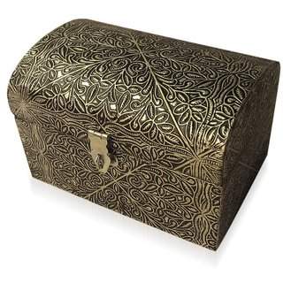 Desi Karigar Wooden Jewellery Box For Trinkets - Silver - Home Decorative Handicraft Gift Item