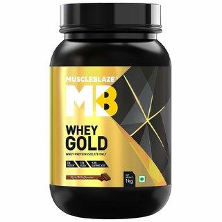 MuscleBlaze Whey Gold Protein 1 kg Rich Milk Chocolate