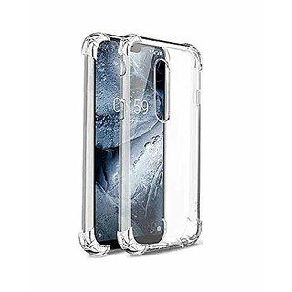 ECellStreet Nokia 5.1 Plus Back Case Cover  Flexible Shockproof TPU  - Transparent