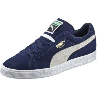 Puma Mens Blue Suede Classic + Sneakers