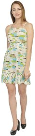 YoO Fashions Multicolor Printed Mini Dress For Women