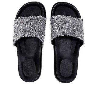 Meia Women Grey Slippers