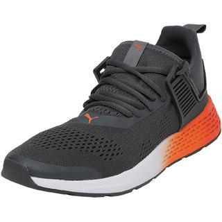 Puma Mens Grey Insurge Eng Mesh Running Shoes