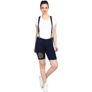 Kotty Women's Blue Cotton Short