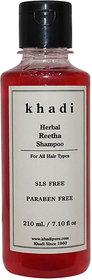 Khadi Herbal Reetha Shampoo SLS-Paraben Free - 210ml