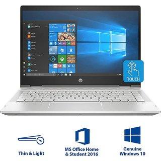 HP Pavilion x360 Core i3 8th Gen - (4 GB/1 TB HDD/8 GB SSD/Windows 10 Home) 14-cd0077TU 2 in 1 Laptop  (14 inch, Natural