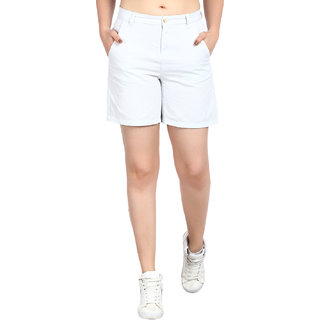 Kotty Women's Blue Cotton Short