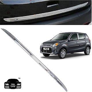Trigcars Maruti Suzuki Alto 800 Car Chrome Dicky Garnish + Free Gift Car Bluetooth 250/