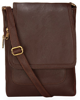 BumBart collection Men  Women Casual Brawn leather Sling Bag