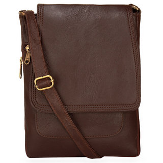 BumBart collection Men Women Casual Brawn leather Sling Bag 55d7fe750c