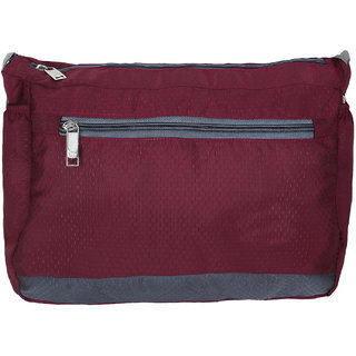 BumBart collection Men Women Casual Polyester Sling Bag (maroon colour)