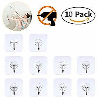 Superbesto 10 pcs Wall Door Hook Hanger for Home Kitchen Bathroom Clothes Towel Key Coat Holders