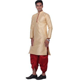 ABH Lifestyle Men's Blend Dhoti Kurta set