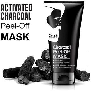 QRAA-Charcoal Peel Off Mask for Men- 100 Gram