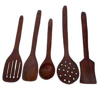 Triple S Handicrafts Wooden Spatula set of 5