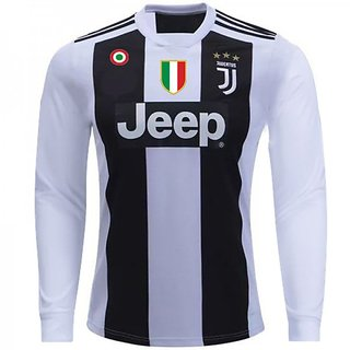 premium selection 9b14e cac31 JUVENTUS HOME BLACK WHITE JERSEY 2018-19 SEASON