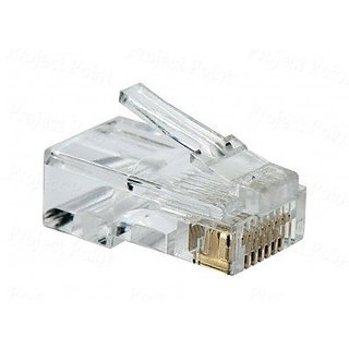 D-Link Plastic Cat 5 RJ 45 Cable Connector - Pack Of 100 Pieces (Transparent)