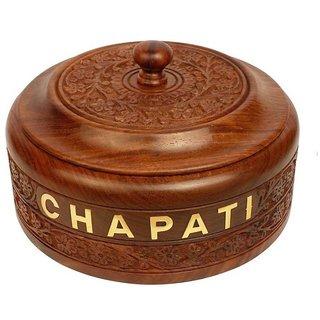 Desi Karigar Wooden Chapati Box Casserole