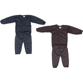 Baby Winter Wear Front Button Thermal suit (Pack of 2)