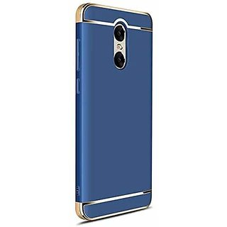 RGW Protective Soft  Flexible 3 in 1 Case Cover for Redmi Note 5 (Gold Blue) + Free Selfie Stick
