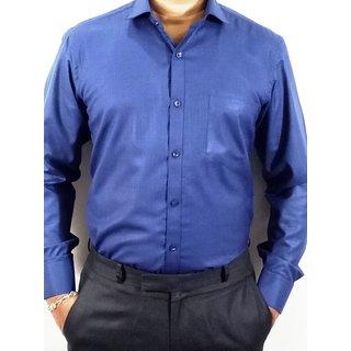 Kleren Chapell Men's Blue Regular Fit Formal Shirt