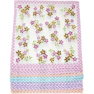 Neska Moda Pack Of 12 Women Floral Cotton Handkerchiefs 30X30 CM H43