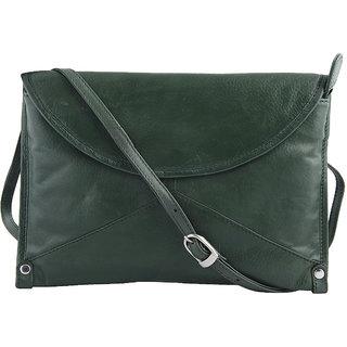 Kara WomenS Green Leather Hand Bag