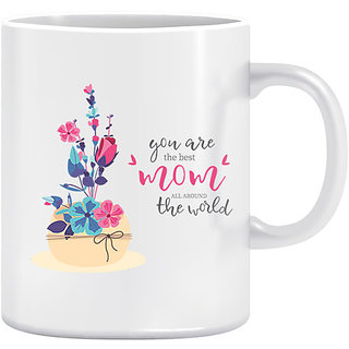 Joy N Fun -  BEST MOM - Printed Coffee Mug 320ml White