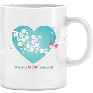 Joy N Fun -     BEST MOM- Printed Coffee Mug 320ml White
