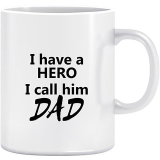 Joy N Fun-   DAD- Printed Coffee Mug 320ml White