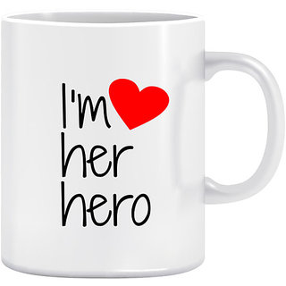 Joy N Fun - HERO -Printed Coffee Mug 320ml White