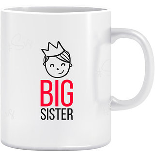 Joy N Fun -BIG   SISTER- Printed Coffee Mug 320ml White