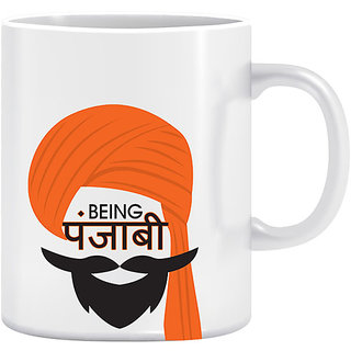 Joy N Fun -Being Punjabi  - Printed Coffee Mug 320ml White
