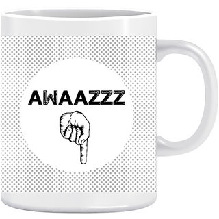 Joy N Fun - Awaaz Niche- Printed Coffee  Mug 320ml White