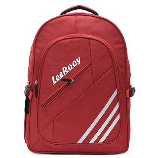 LeeRooy Canvas 24 Ltr Red Best Quality Bag Backpack For Unisex