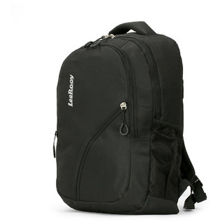3100caac35aa Buy LeeRooy Canvas 18 Ltr Black Office Bag Backpack For Unisex Online - Get  31% Off