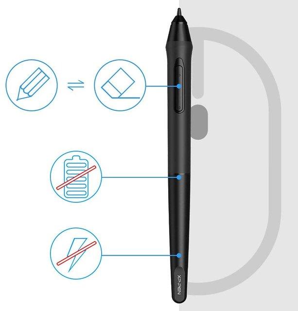 XP-PEN G640S Drawing Tablet Graphic Pen Tablet for OSU! 8192 Levels  Pressure Digital Tablet with 6 Shortcut Keys and Bat